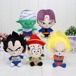 Wholesale Dragon Ball Z Plush - 5pcs set Dragon Ball Z Figures Plush Doll Pendant Toys Super Saiyan Goku  Piccolo Trunks Figure Plush Doll Toys 1206#06