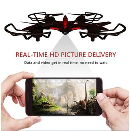 Wholesale Wifi Record - HD Camera 720P UAV WIFI Quadrocopter wear feel remote control Built-in six-axis gyro aircraft toy Free Shipping