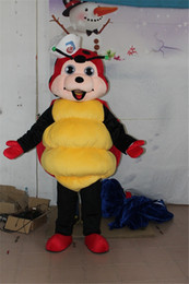Wholesale Smiling Mascot - New Style Black And Red Ladybird Insect Beetle Mascot Costume Ladybug Lady Beetle With Smiling Face Beetle Cartoon Costume
