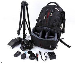 Wholesale Hot Nylon Flashing - 2016 hot sell camera video backpack for photography high quality waterproof photo backpack bag for men women travel outdoor backpack