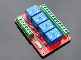 Wholesale Isolation Board - Wholesale-4 Channel Relay Module Bidirectional Optical Coupling Isolation High Low Average Trigger 5V 12V 24V Development KIT board atmega