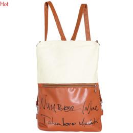Wholesale Leather Fashionable Backpacks - 2016 Design Bags Patchwork Canvas Leather Packpack Bag Fashionable Casual Messenger Bag Crossbody Letters School Bag Womens Handbag SV008464