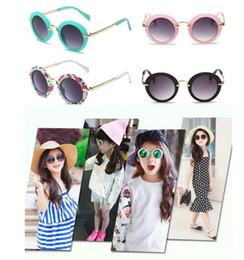 Wholesale Travel Children Baby - Round Boys Kids Sunglasses Brand Children Sunglasses Baby Vintage Eyeglasses Oculos Travel Round Vintage Sun Glasses KKA3336