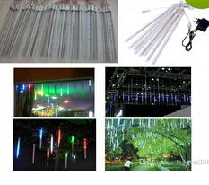 2019 giardini magici Christmas light 8pcs set Snowfall Tube 30cm Meteor Rain Led Tube Light +Power Adapter Xmas tree decoration light