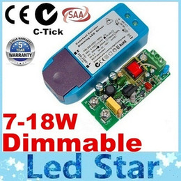 Wholesale Constant Current Led Power Supplies - 5 Years Warranty & C-tick SAA Dimmable AC 200-250V Transformers 7-18W Constant Current Power Supply Best For Led Downlight Free Shipping