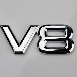 Wholesale Volkswagen Bumper Stickers - 3D ABS Decal Chrome 5.0 6.2 V8 Emblem Logo Sticker badge decals for car bumper stickers For Toyota Land Rover Volkswagen