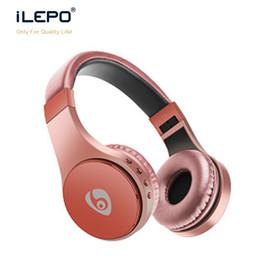 Wholesale Earphone Over - 2018 Wireless Bluetooth Headphones Foldable Headset Bluetooth Over Ear Headphones Low Bass Studio Headphones Earphones For Computer Phones