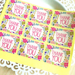 "Wholesale wedding thank stickers - Wholesale- 450 Flower ""Thank You"" Seal label,Stickers for Wedding Gift Wrap,Bags,Envelopes,Cards"