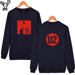 Wholesale Rocky Hoodie - Wholesale- BTS U2 Rocky Band Men Hoodies Female Warm Cotton Pullovers Mens Hoodies And U2 Print Sweatshirts Kpop Capless Clothes XXS To 4XL