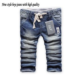 Wholesale Kids Denim Pockets Style - Cheaper Promotion Spring Kids Jeans pants Children Overall pants Boy Brand Washed jeans