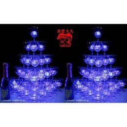 Wholesale Colorful Blinking Led - Ice Cube Rainbow Flashing Colorful Led Light Water-Actived Blinking water-sensing Wedding Christmas Party Ornaments Free DHL Factory Direct
