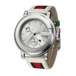 Wholesale Leather Big Watches - Fashion Brand Men's Big dial style Leather strap quartz wrist watch GU11