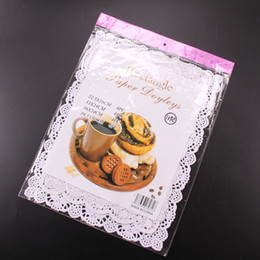 Wholesale Bakery Liners - Cake Paper Paper Lace Doilies Combo Pack Rectangle Bakery Board Paper Doily Mat Decoration Paper Liner 16pcs Pack 4 Size Assorted