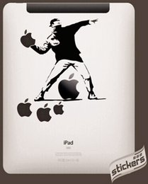 Wholesale New Ipad Decals - Wholesale-Fashion New Funny Cartoon PVC Waterproof Case Cover Sticker Tablet Laptop Decal For Apple iPad 1 2 3 4 Mini Air For Mac T03