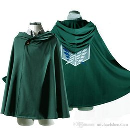 Wholesale Cosplay Capes - Anime Shingeki no Kyojin Cloak Cape clothes cosplay Attack on Titan 3 Size