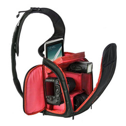 Wholesale Backpack Camera Case - New Photography DSLR Camera Backpack Waterproof Camera Sling Shoulder Bag Outdoor Camera Bag Portable Durable and Shockproof..
