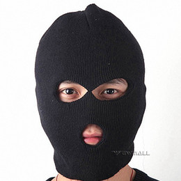 Wholesale Headgear For Winter - Black Caddice Winter Warm Full-Face Coverage Mask Headgear with Eyes & Mouth Holes for Outdoor Cold Weather Activities 5pcs