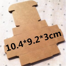 Wholesale Handmade Crafts For Birthdays - 50 pcs 10.4*9.2*3cm Kraft paper gift box for wedding,birthday and Christmas party gift ideas,good quality for cookie candy