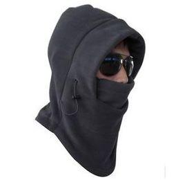 Wholesale Thermal Fleece Hoods - 6in1 Thermal Fleece Balaclava Hood Police Swat Ski Bike Face and Neck Wind Stopper Mask