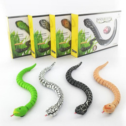 Wholesale Plastic Reptiles - RC Snake Bionic Reptile Animal 3CH Infrared Remote Radio Control Ratlesnake Tricky Brains Early Childhood Education Toys