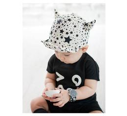 Wholesale little boys hats caps - kids cute hats, Children little star cartoon fashion baby hat, boys horn shape baseball cap, 5pcs lot, dandys