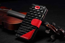 Wholesale Real Diamond Iphone Case - Woven Weave Diamond Genuine real Wallet Leather Pouch For Iphone 5 5G 5S 6 Air 6G 4.7 inch 5.5 inchcredit card Stand Holster skin case cover
