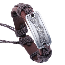 Wholesale Christian Jewelry For Women - Christian Religious Jewelry Box Long Cross Snap Jewelry Leather Bracelets for Women Multilayer Infinity Black Charm Bracelet for Men