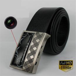 Wholesale Dvr Belt - 1080P HD Leather Belt Buckle Camera with IR night vision Motion Detection Remote control Spy Belt camera Hidden Pinhole Camera Mini DVR