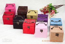 Wholesale Necklace Box Jewel - Rings Necklace Jewelry cosmetic box Fashion jewelry box jewel case princess deerskin of wedding gift