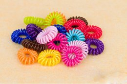 Wholesale Telephone Cord Headbands - 50X Telephone Cord Hair Rope Accessories Gum for Hair Styling Tools Headband Hairband acessorios rubber bands tiara de cabelo