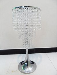 Wholesale Table Decoration Piece - Free shipping 3 tiers Wedding crystal table centerpiece 1 lot=10 pieces wedding road leads metal event use flower rack