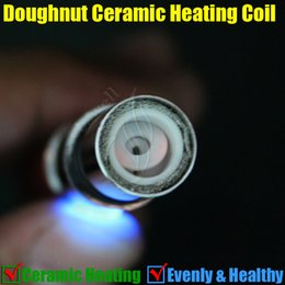 Wholesale Full Bowl - Doughnut Full Ceramic Coils pure rebuildable Replacement core head for glass globe Atomizer Donut Vase Shape Vhit gax Cannon Bowling Tank