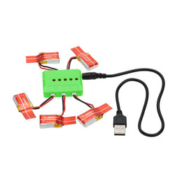 Wholesale Drone Battery Charger - Brand GoolRC 5Pcs 150mAh 30C Lipo Battery 3.7V and 5-Port Charger for JJRC H8 Mini RC Drone order<$18no track