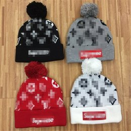 Wholesale Knitted Cotton Beanie - 2017 Winter hat wool cap men's winter hats warm knitted hat cap Headgear Head warmer dress