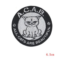 Wholesale Iron Order - all cats are beautiful applique patches Embroidery Tomcat Embroidered Iron On Clothes Patch size 6.5cm wholesale ordering