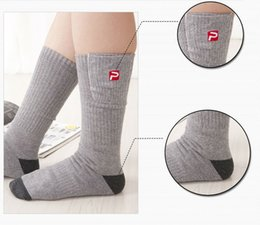 Wholesale Thick Warm Socks For Winter - Wholesale-1Pc Winter Warm Soft Cotton 2.4V Electric Heated Socks Thick Heating Socks Support Power Battery For Men And Women