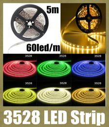 Wholesale cheap light strips - smd 3528 led strip led light strip 5m 600leds waterproof smd 3528 led strip light 12v cheap led strip light rgbw led strip flexible DT013