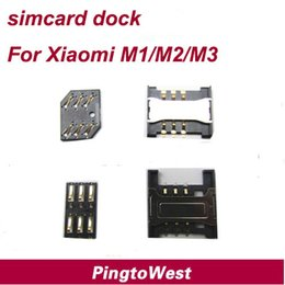 m2 connector NZ - Wholesale-Original Simcard Dock Connector Simcard Holder for Xiaomi M1 M2 M3,Free Shipping