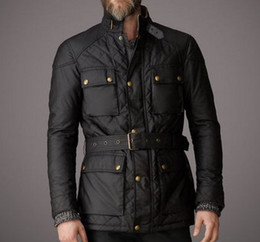 Wholesale Motorcyle Jackets - Fall-2015 New Style Brand Men Jacket Men quilted chaqueta hombre motorcyle outerwear waterproof Men's motorcycle Jackets