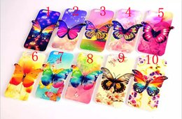 Wholesale Iphone 4s Lighting Case - 3D Cases New Blue Light Butterfly TPU Skin Cover case for iphone 6 6s plus 5 5s 4 4s