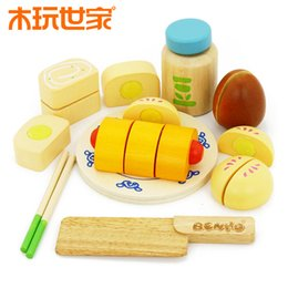 Wholesale Wood Play Food - wooden toy Play house emulational Chinese Food Set Birthday gift Infants Baby Kids Developmental Toy Fast Shipping Hot sale New