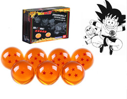 Wholesale Dragonball Box - Animation DragonBall 7 Stars Crystal Ball 4.5cm New In Box Dragon Ball Z Complete set toys 7pcs set