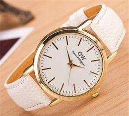 Wholesale Discount Waterproof Watches - Waterproof Quartz Wrist Watches Leather Band Discount Designer Wristwatches Pink Buckle Fashion Design Watches 0104DW-25