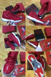 Wholesale Free Carbon - Men Retro 11 gym red win like 96 real carbon fibre basketball shoes with box free shipping
