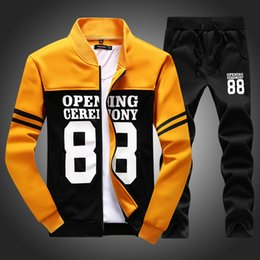 Wholesale Fleece Jogging Pants - tracksuit tenis baseball golf polo suit Autumn winter men sweatshirt pants set sudaderas hombre 2015 sport joggers jogging