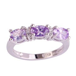 Wholesale Tourmaline Bands Wholesale - Wholesale-Wholesale Elegant Lady Oval Cut Tourmaline & White Topaz 925 Silver Ring Size 7 8 9 10 Women Gift Love For PROMISE Free