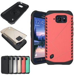 Wholesale Galaxy Active Cover - For Samsung Galaxy S6 Active Armor Robot 2 in 1 Hybrid Soft Silicone TPU Hard Phone Case Cover for Samsung G890 G890A