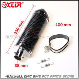Wholesale Muffler Silencer Exhaust Pipe - Exhaust Muffler Pipe 38mm Carbon fiber move blow-down silencer   Mute for Dirt Bike Pit Bike ATV Motorcycle Scooter