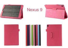 "Wholesale China Table Folding - For Google Nexus 9 Lichee Grain Folding Folio PU Leather Case Stand Cover for Google nexus 9 Google 9 8.9"" inch Table PC"