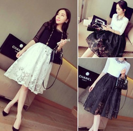 Wholesale Double Maxi Long Dress - Wholesale-New Womens Double Layer Pleated Retro Maxi Plaid Long Elastic Waist Dress